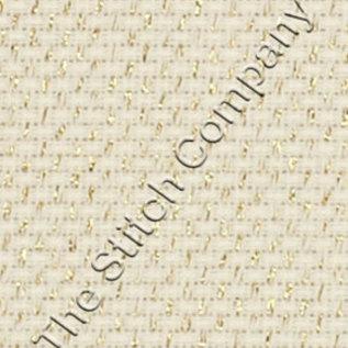 Borduurstof Aida 14 count - Gold Lurex 50 x 35 cm - Übelhör