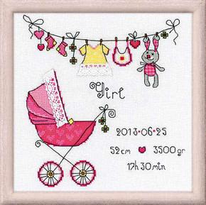 Riolis Borduurpakket It's a Girl! - RIOLIS