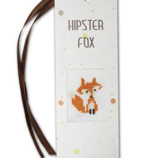 Borduurpakket Boekenlegger Hipster Fox - Luca-S
