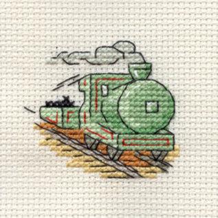 Mouseloft Steam train/Stoomtrein borduurpakket