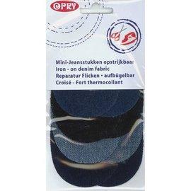 Opry Mini kniestukken jeans opstrijkbaar