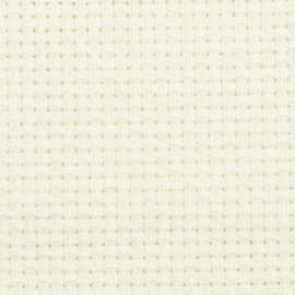 Borduurstof Aida 14 count - White - Übelhör 100x180cm
