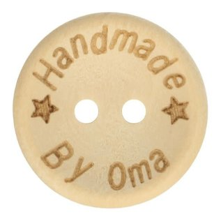 Houten knoop handmade by oma 15mm