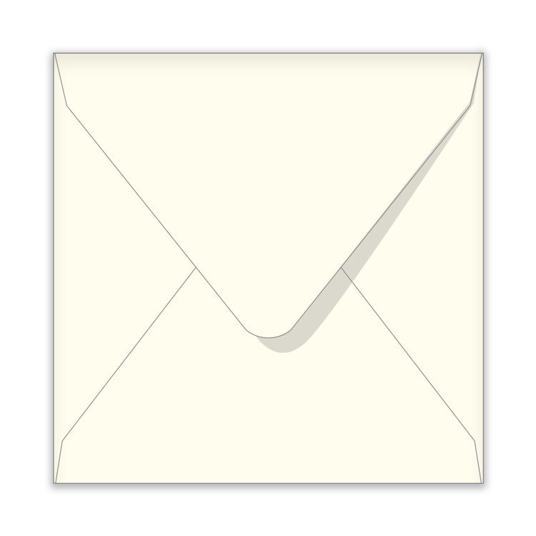 Enveloppen 14x14cm ivoor offwhite (per stuk)