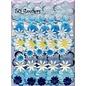 Papieren bloemen pakket blauw
