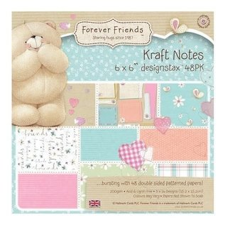 forever friends kraft notes paper pack 6x6