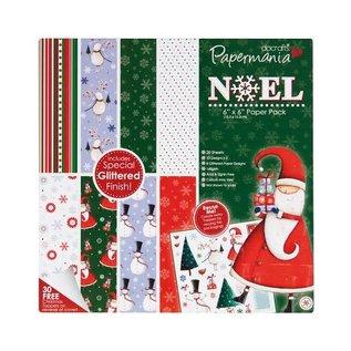 PMA glitter NOEL paperpack 6x6