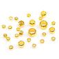 Mix brass knijpkralen 2-4x1,3-2,5mm (+/-400st) goud