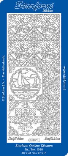 Delfs blauw holland sticker vellen (per vel)