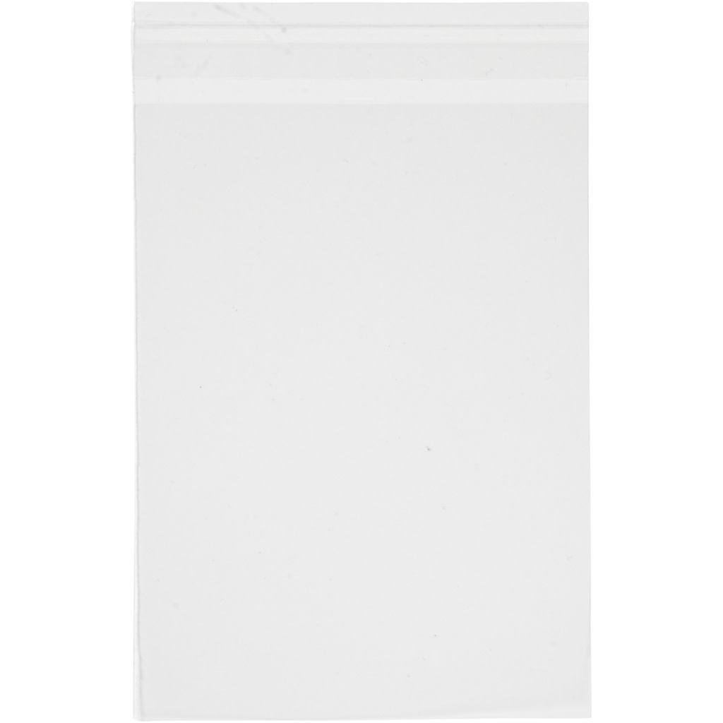 Cellofaan kaarten zakjes 15,5x21,5 / 50x met plakstrip per pak
