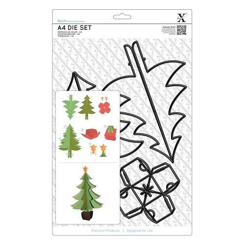 A4 die set build a christmas tree