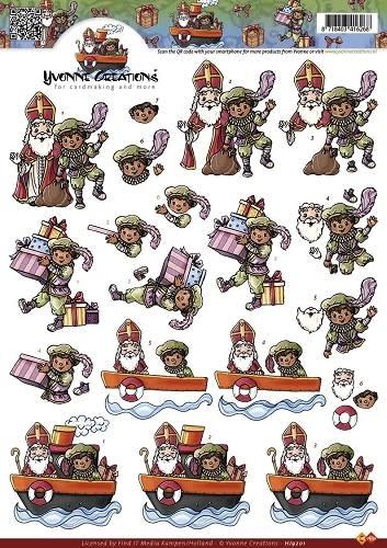 3D Knipvel - Yvonne Creations - Sinterklaas
