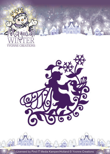 Yvonne Creations - Magical winter - Fairy snijmal kerst