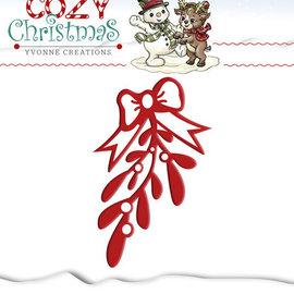 Yvonne Creations - Cozy Christmas - Mistletoe kerst snijmal