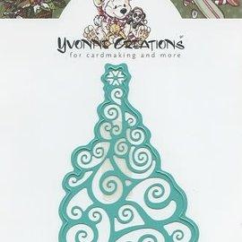 Yvonne Creations - Christmas tree kerst snijmal