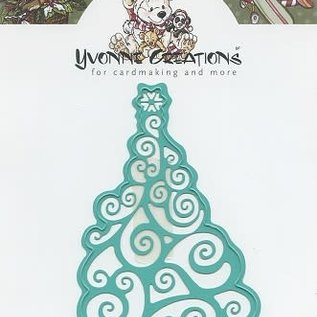 Yvonne Creations - Christmas tree kerst snijmal