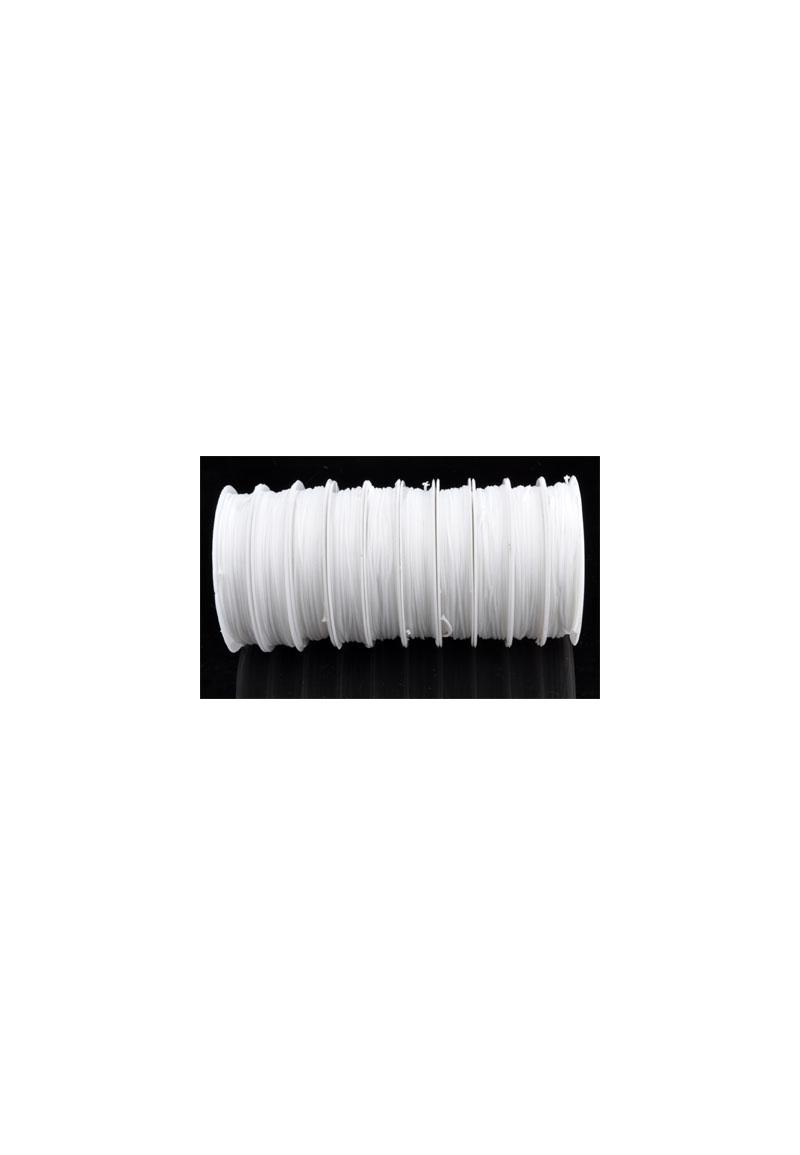 Nylon draad (niet elastisch/doorzichtig) 0.8mmX10meter per rol