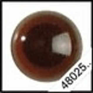 Veiligheids ogen 20mm zwart donkerbruin