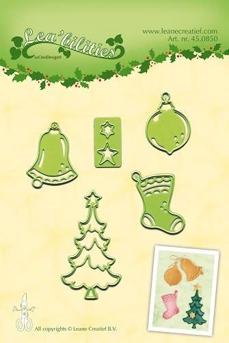 Lea bilitie® christmas ornaments frame snij en embossing mal