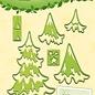 Lea bilitie® Christmas trees snij en embossing mal