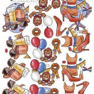 3D Knipvel - Yvonne Creations - Koningsdag