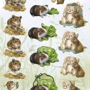 3D Knipvel - Amy Design - Animal Medley - Rodents