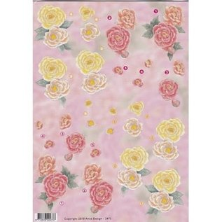 3D knipvel - Anne design - Bloemen rozen 2473