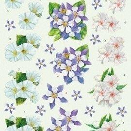 3D knipvel - voorbeeldkaarten - bloemen 2219