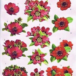 3D knipvel - voorbeeld kaarten  - bloemen 2156