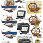 3D knipvel voorbeeldkaarten 2630 schepen marine