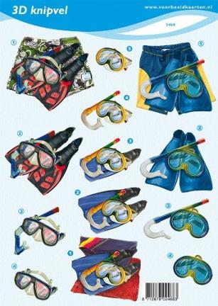 3D A4 knipvel - zwemkleding VBK 2468