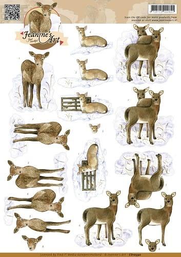 3D Knipvel - Jeanines Art - Deer