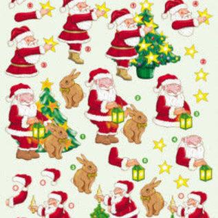 3d knipvel kerst kerstman