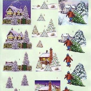 3d knipvel VBK kerst huis 2112