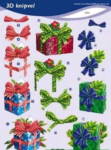 3d knipvel VBK kerst pakketjes