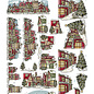3D Knipvel - Yvonne Creations - Traditional Christmas - Huisjes