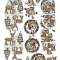3D Knipvel - Yvonne Creations - Traditional Christmas - Hertjes