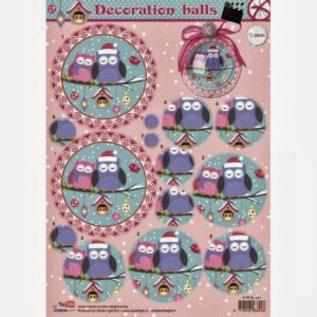 Decoration balls uitdrukvel voor 10cm acryl bal