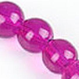 Glaskralen rond roze ± 10mm (gat ± 1,5mm) (± 160 st.)