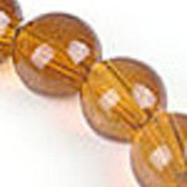 Glaskralen geel rond ± 10mm (gat ± 1,5mm) (± 160 st.)