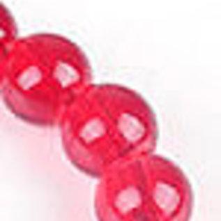 Glaskralen rood rond ± 10mm (gat ± 1,5mm) (± 160 st.)