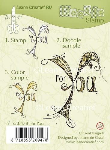 Leane creatief Doodle clear stempel