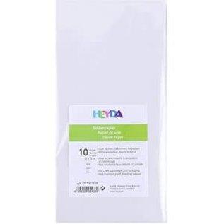 Tissue papier/Zijde papier wit 10 vellen per pak