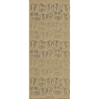 starform stickers babyvoetjes goud 129 (per stuk)