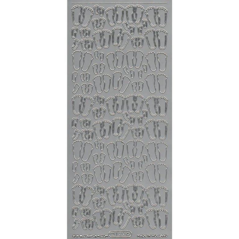 starform stickers babyvoetjes goud 129