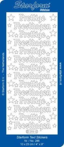 starform stickers prettige feestdagen goud (per stuk)
