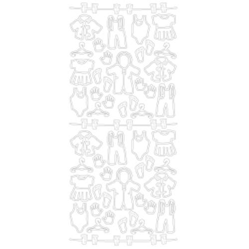 Stickers baby kleding aan waslijn (per stuk)