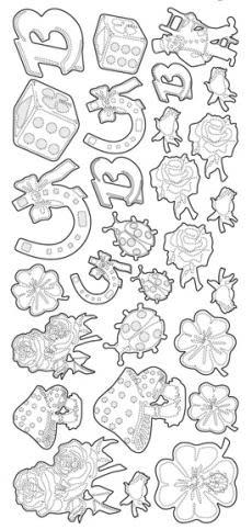 Stickers geluk lieveheersbeestje, klavertjes etc
