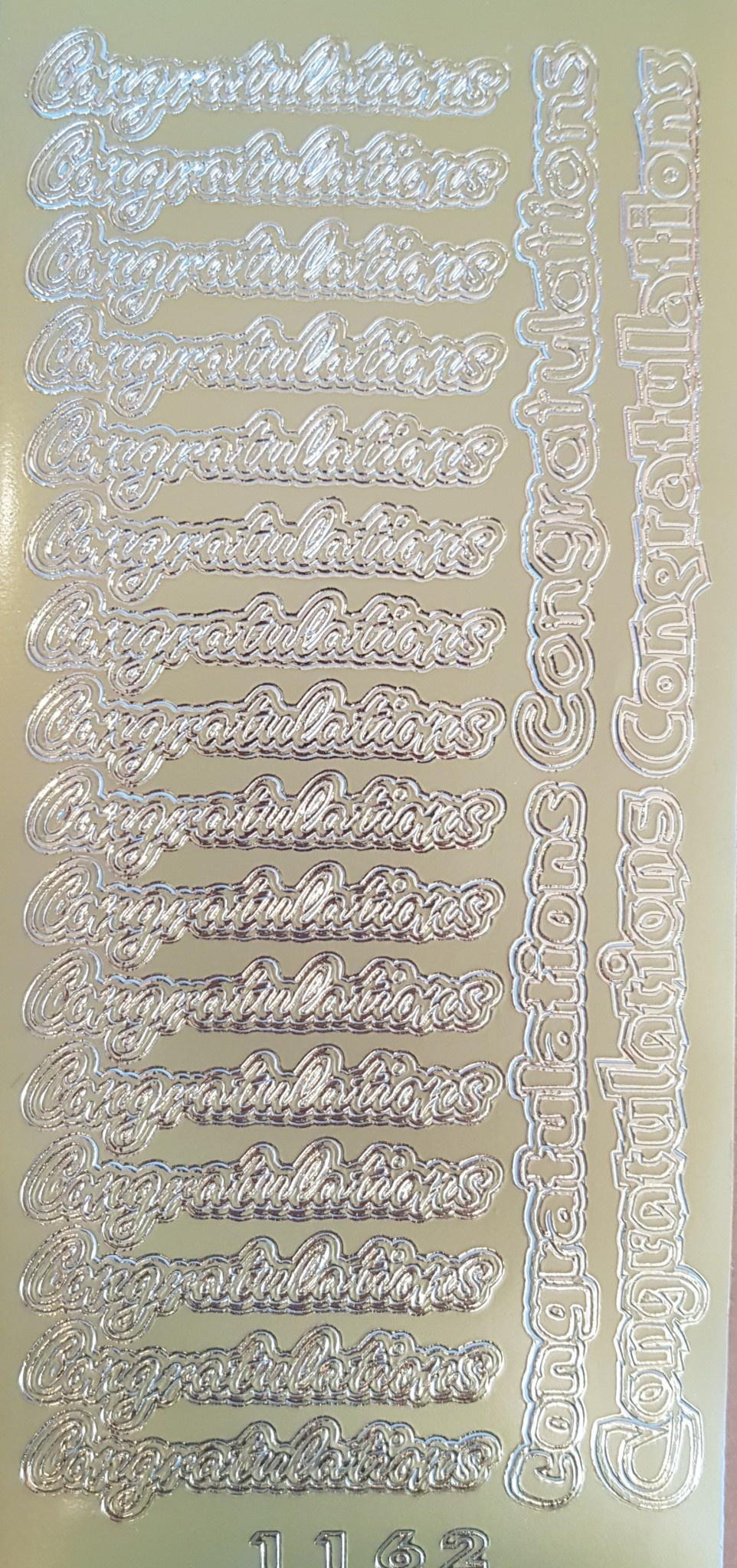 Stickers congratulations goud