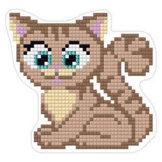 Diamond painting kitten magneet